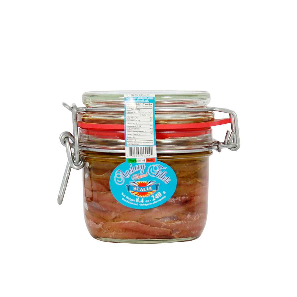 Fish Products : Anchovy Fillets In EVO Oil 240g
